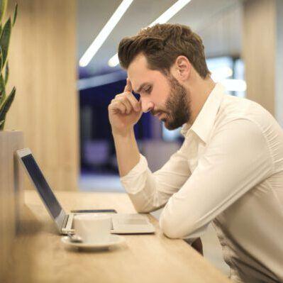 Ondernemer met burnout